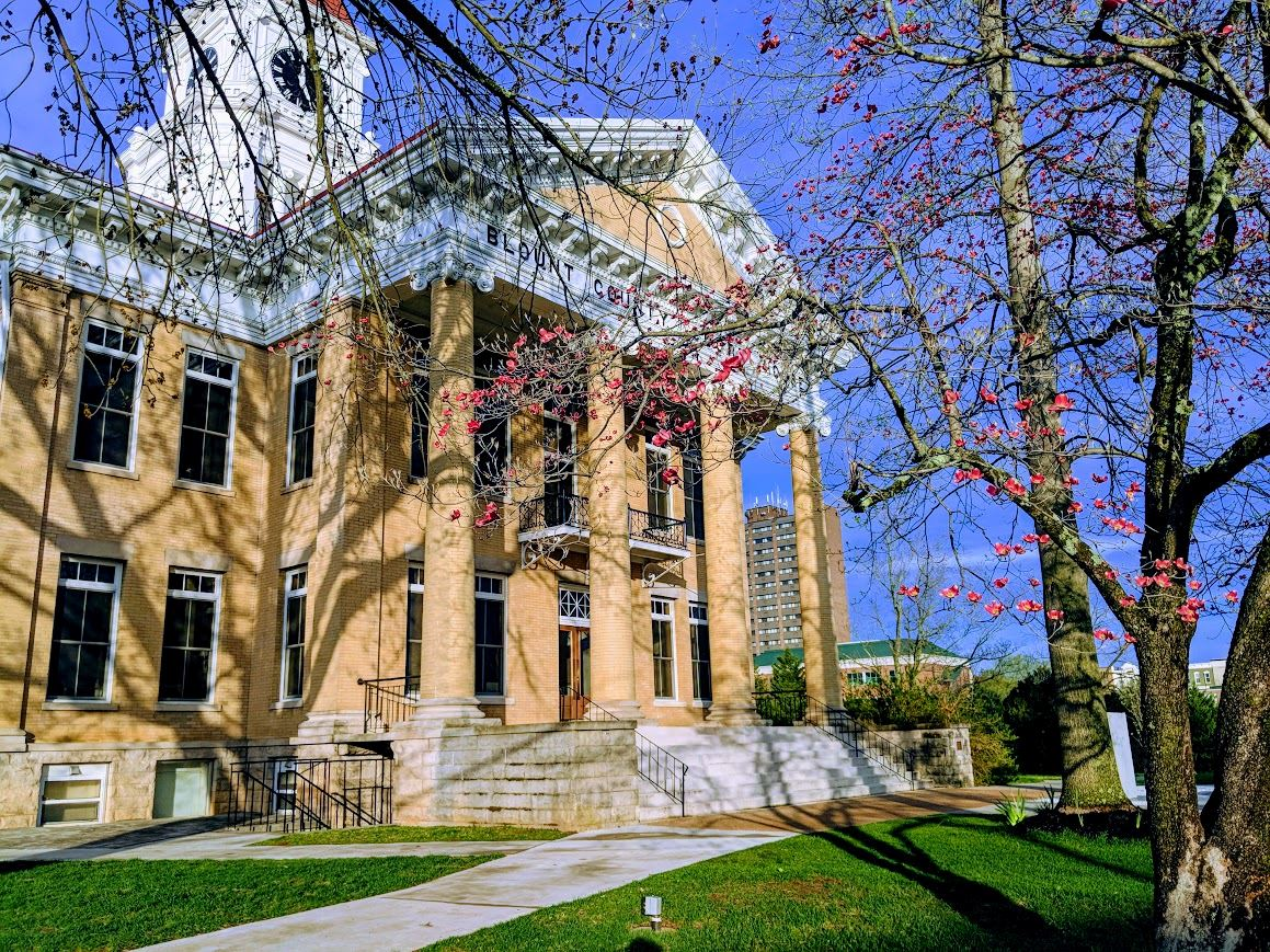 Courthouse in Spring (color)