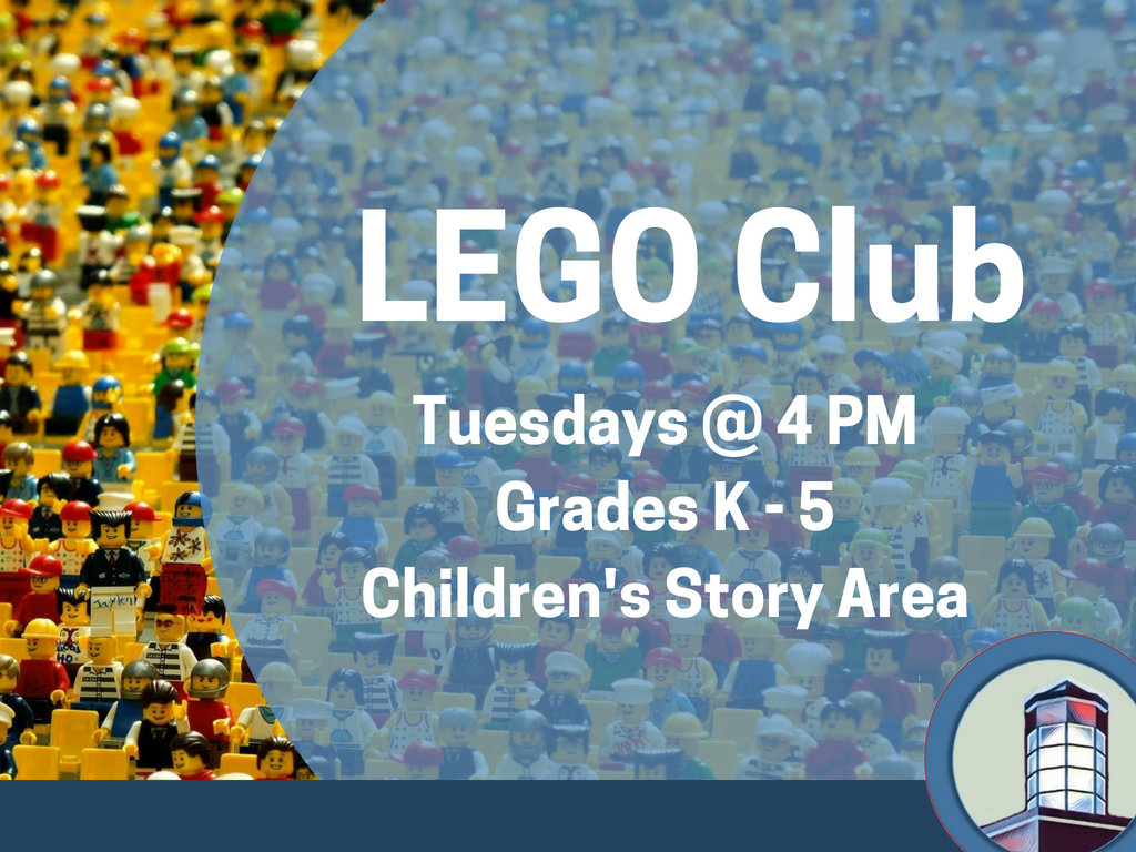 Childerns Lego Club (Light Blue background) (Signage)