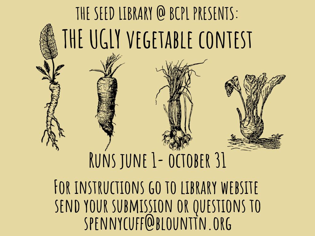 Ugly Vegetable Contest June 1-Oct 31 2019 (Signage)