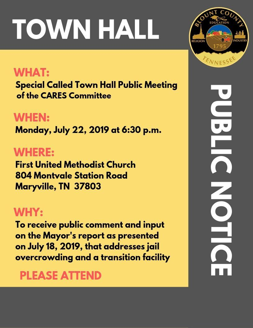 CARES Comm Town Hall 7.22.19