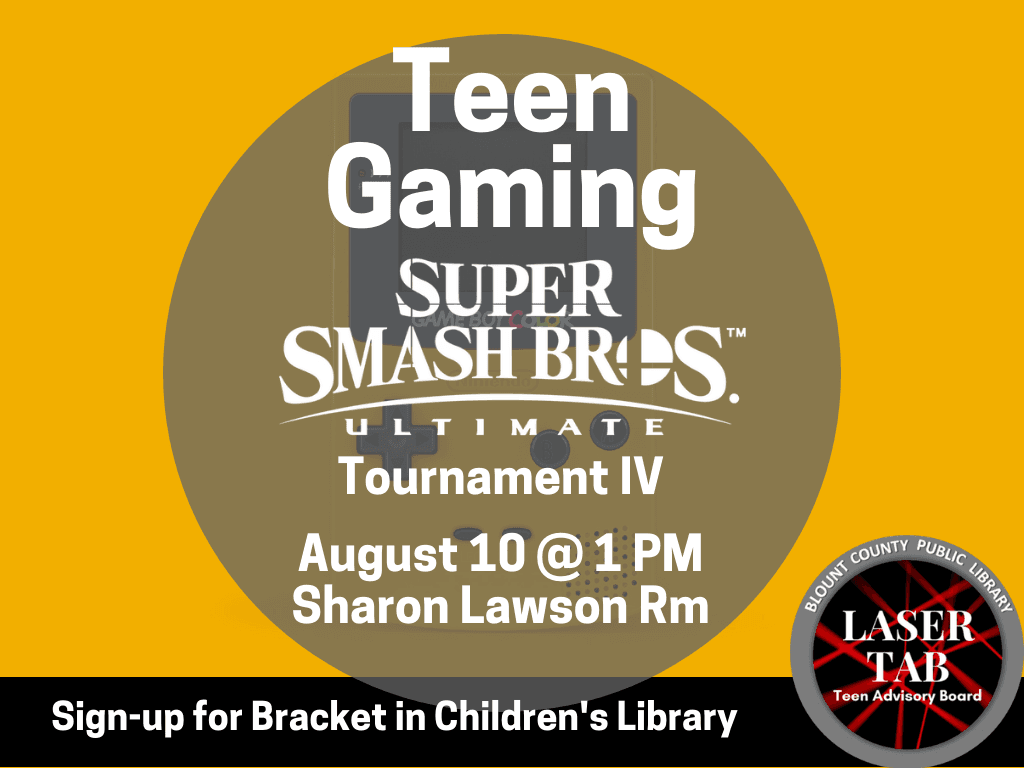 Teen Gaming Aug 10 2019 (Signage) Sign Up Bracket