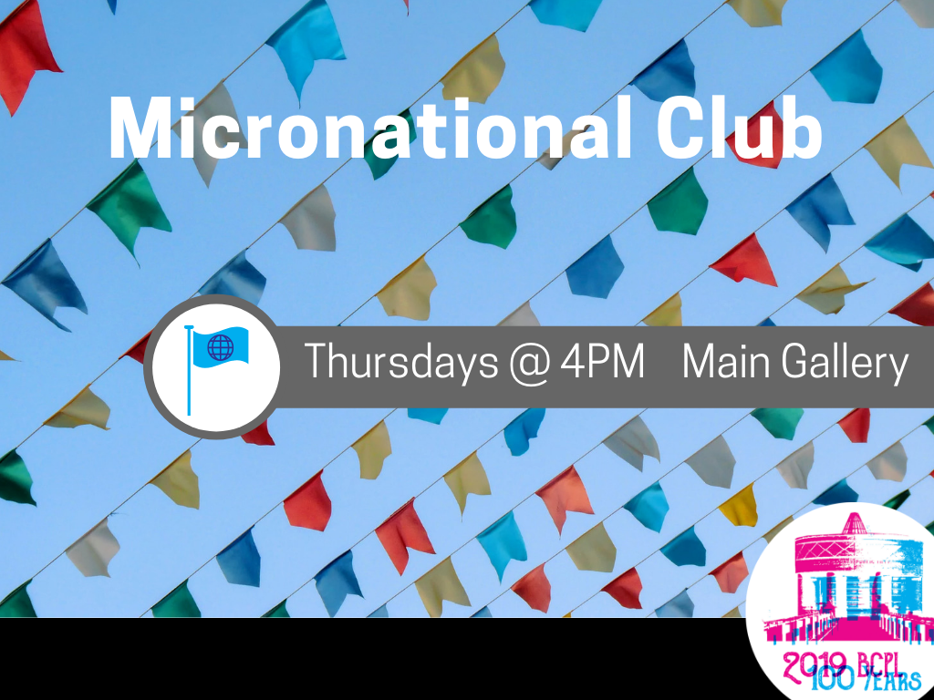 Micronational Club Thursdays 2019 (Signage)