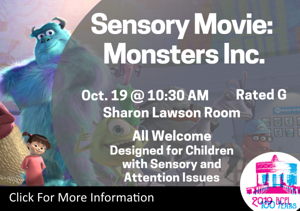 Sensory Movie Monsters Inc Oct 19 2019 (Feature)