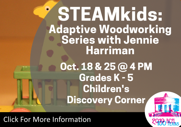 STEAMkids Woodwork Series Oct 18 25 2019 (Feature)