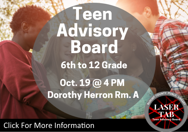 Teen Advisory Board Laser TAB  Oct 19 2019 (Feature)