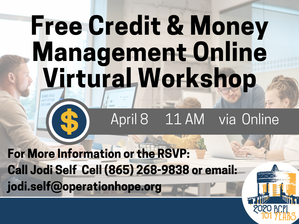 Free Credit and Money Management April 8 2020 (Signage)