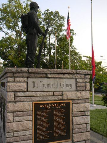 Image from right side of War Dead Memorial